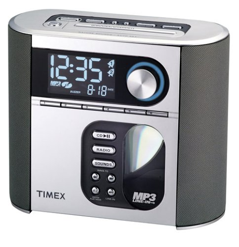 Timex T617S Nature Sounds Auto Set CD Clock Radio with Smart