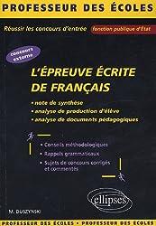 L'épreuve écrite de français
