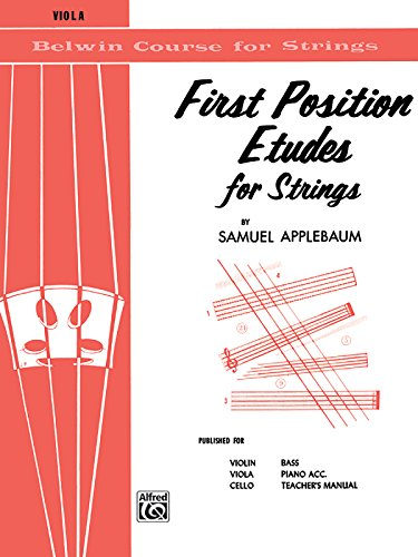 (First Position Etudes for Strings: Viola (Belwin Course for Strings))