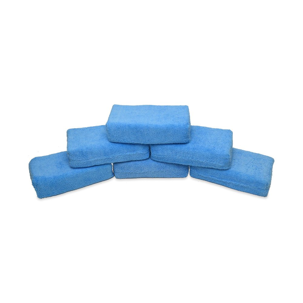 Detail King Jumbo Blue Microfiber Wax Applicator- 6 Pack