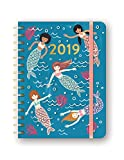 Orange Circle Studio 2019 Deluxe Compact Flexi Planner, August 2018 - December 2019, Mermaid Tales