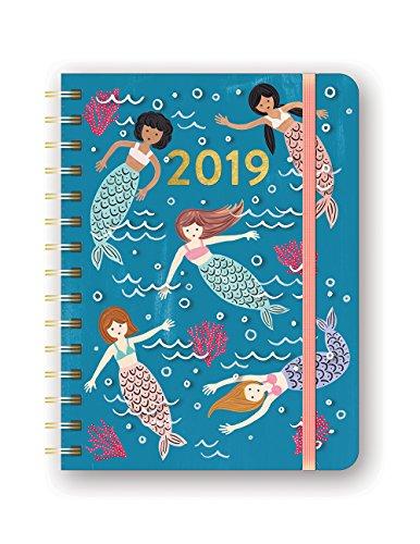 Orange Circle Studio 2019 Deluxe Compact Flexi Planner, August 2018 - December 2019, Mermaid Tales