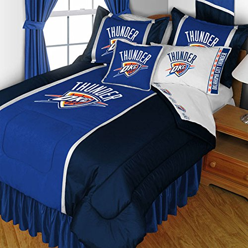 NBA Oklahoma City Thunder Twin Bedding Set Basketball Bed - Sheets Twin Sports Coverage