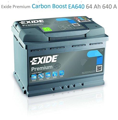 Exide Premium Carbon Boost EA640 64Ah Autobatterie (Neuestes Modell 2014/15)