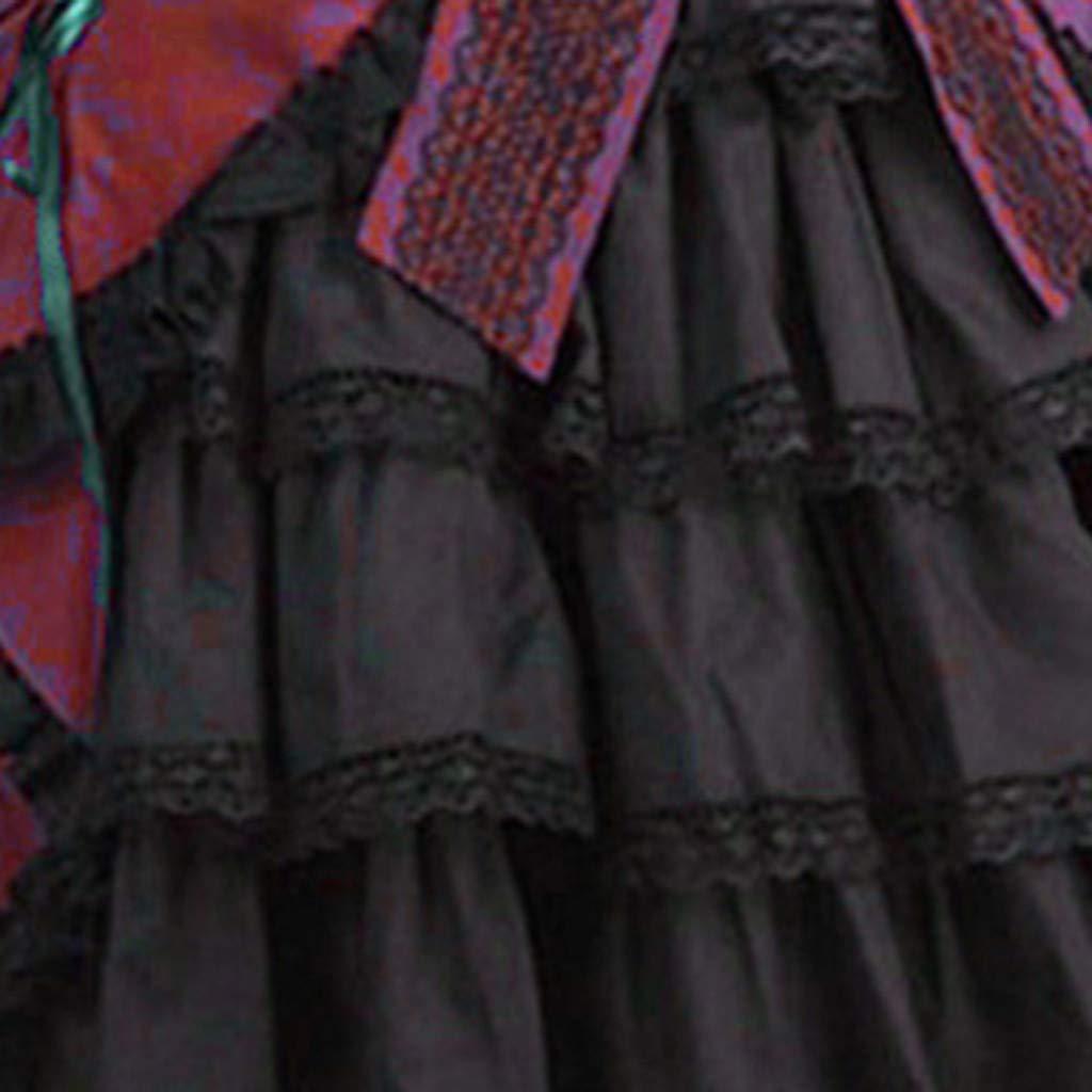 Goosun Vestidos Medieval Mujer Disfraz Fiesta G/ótico Vestido Carnaval Largo Vestido Renacentista para Mujer Vestido Largo Manga Larga Vintage