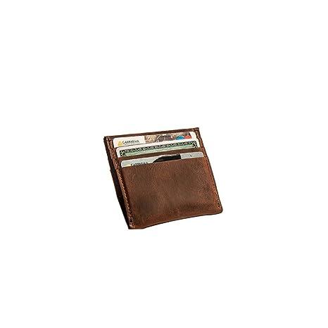 e5294ea2207d6a Barengo Porta Carte di Credito Personalizzato in Pelle Marrone ...