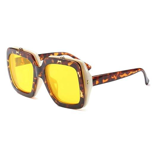 HYUHYU Lente Doble Gafas De Sol De Gran Tamaño Gafas De Sol ...