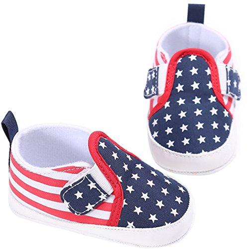 Etrack-Online Baby Loafers - Zapatos primeros pasos de Lona para niño azul oscuro