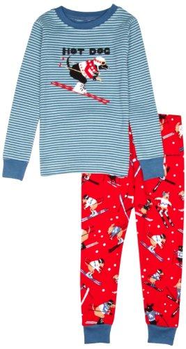 Hatley Little Boys Pajama Set Skiing