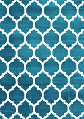3029 Turquoise Moroccan Trellis 7 10×10 6 Area Rug Carpet Large New