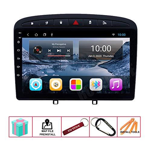 roverone radio del coche para peugeot 408 para peugeot 308 308sw 2010 2016 con android navegacion gps pantalla tactil estereo multimedia bluetooth wifi usb mirror link
