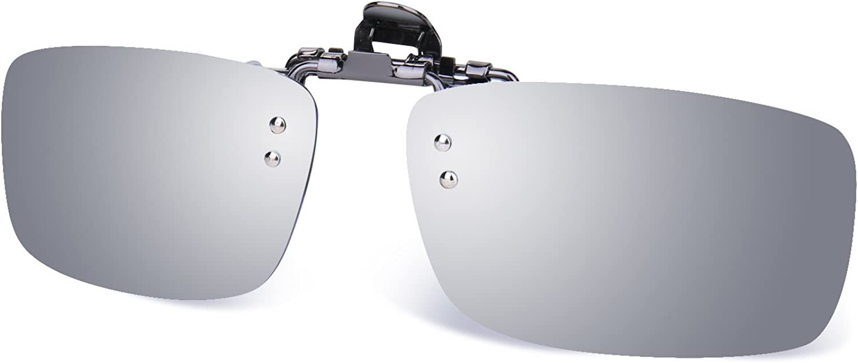 Besgoods Polarized Clip-on Flip up Metal Clip Sunglasses Lenses Glasses Driving Fishing Outdoor Sport