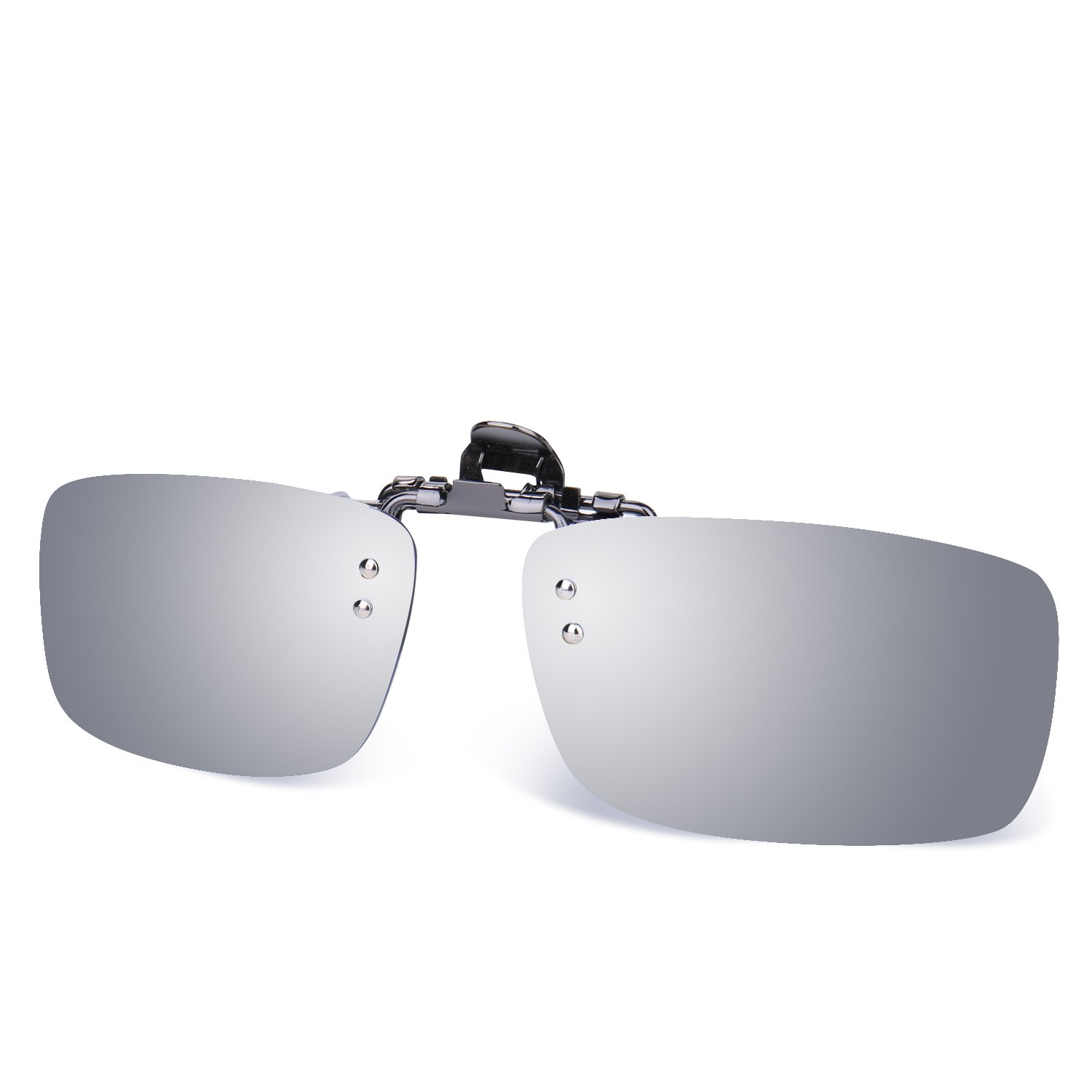 f7307fc241f Besgoods Polarized Clip-on Flip up Metal Clip Sunglasses Lenses Glasses  Unbreakable Driving Fishing Outdoor Sport New-Royal Blue Mirror Silver  Mirror ...