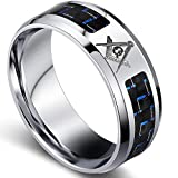8mm Size 5-16 Stainless Steel Masonic Ring
