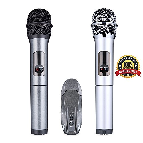 Receiver Tao (Lumsing Microphone Wireless Professional Bluetooth Handheld Wireless Microphone System Karaoke Dynamic Mic With Bluetooth Receiver For Performance Karaoke Party Speech Meeting)