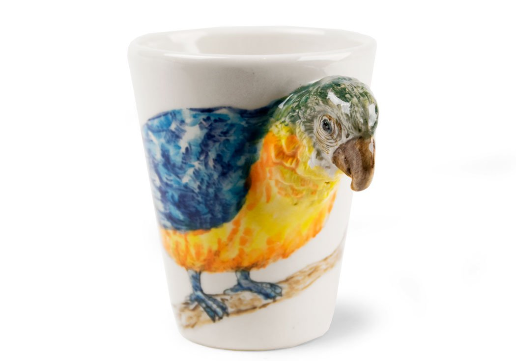 Coffee Mug Handmade by Blue Witch Parrot Gift