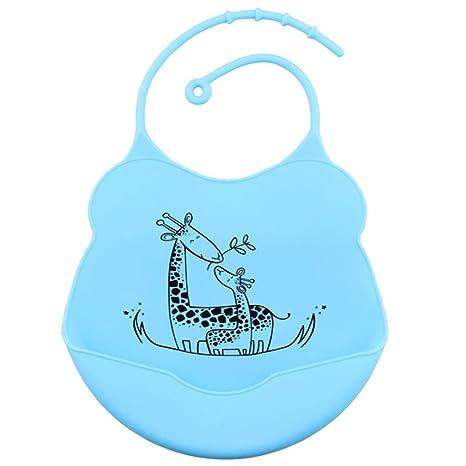 Koly Bebés infantes impermeables baberos de silicona Almohadillas para niños Premium Lindo Cómodo Suave Limpia fácilmente