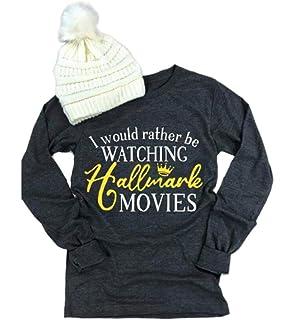 Women Hallmark Christmas Movies O-Neck Sweatshirt Classic Fit Crewneck Pullover Tops