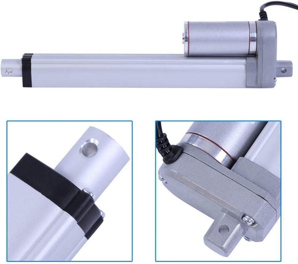 400mm 12V Linear Actuator Force 1500N Stroke 200mm//350mm//400mm//450mm//700mm//750mm Linear Actuator Lift Electric Motor Bracket Linear Actuator Motor for Automotive//Medical Devices