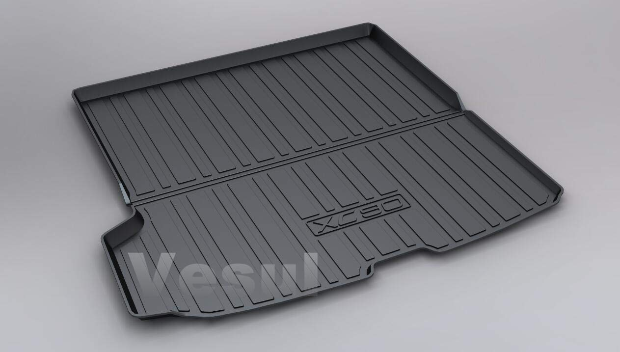 Vesul Rubber Rear Trunk Cover Cargo Liner Trunk Tray Floor Mat Carpet Compatible with Volvo XC90 2016 2017 2018 2019