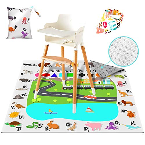 (Splat Mat for Under High Chair for Baby & Kid - 51