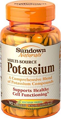 Sundown Naturals Multi-Source Potassium, Tablets, 90 tablets Pack of (Multi Source Potassium)