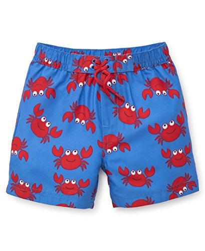 Little Me Baby Boys' Swim Trunks, Crab, 24M Infant Baby Boys Swim Trunks
