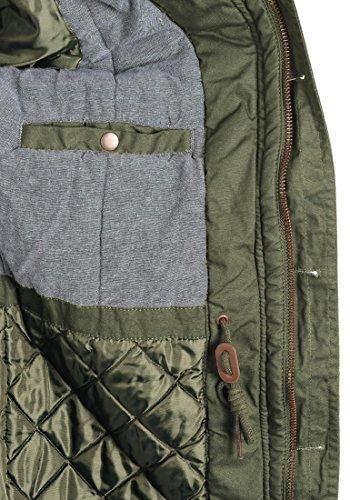 Blouson Capuche Clark Homme Green Pour 3797 Jacke 100 Veste Coton À D'extérieur solid D'hiver Ivy azIzq