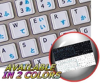 Calcomanías para teclado de Mac, inglés y japonés, diseño de ...