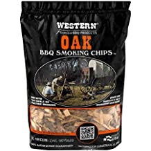 Western Premium BBQ Products Post Oak Smoking Chips, 180 cu inch