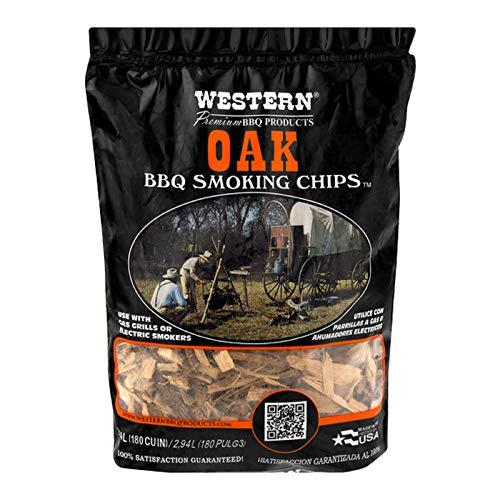 WESTERN 78077 Premium BBQ Products Post Oak Smoking Chips, 180 cu inch