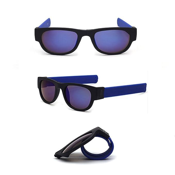 TUOTUO Gafas de Sol Polarizadas para Hombre Mujer, Súper Liviana Plegables Lentes Deportivas Protección 100