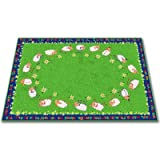 Kid Carpet FE769-34A Little Lambs Of God Nylon Area Rug, 6' x 8'6'', Multicolored