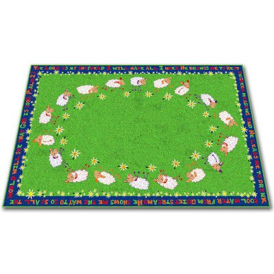 Kid Carpet FE769-34A Little Lambs Of God Nylon Area Rug, 6' x 8'6'', Multicolored by Kid Carpet