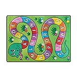 My Little Nest Kids Children Snake Alphabet Board Game Area Rug Baby Boys Girls Play Mat Non Slip Soft Educational Fun Carpets for Bedroom Classroom Nursery 4'10'' x 6'8''