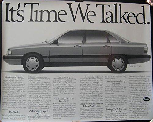 1988 Audi 5000 CS Turbo Showroom Poster