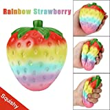 HANYI Stress Relief Toys For Kids With Adhd, Squeeze-Therapy-Sensory-Squishy-Educational (Rainbow Strawberry)