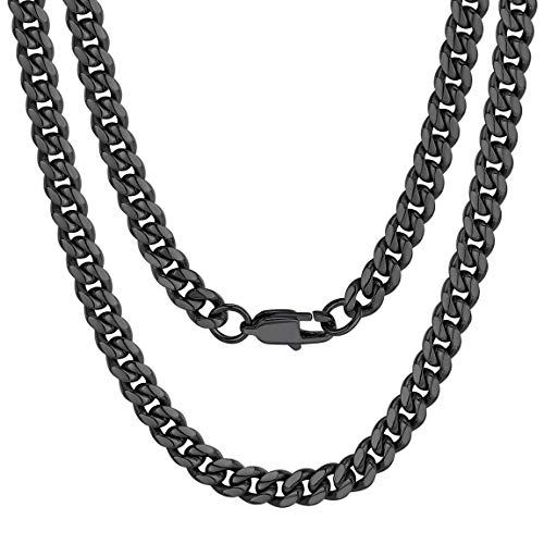 Boy Curb Cuban Chains Stainless Steel Mens Necklace 22