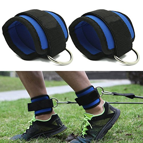 WINOMO 2pcs Sport Ankle Strap Gym Resistance Bands for Cable