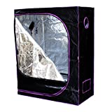 Apollo Horticulture Reflective Mylar Hydroponic Grow Tent for Plant Growing Size 48x24x60 inch