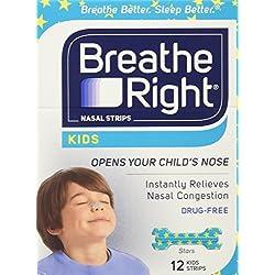 Breathe Right Kids Nasal Strips, 12 Strips, (1 Box)