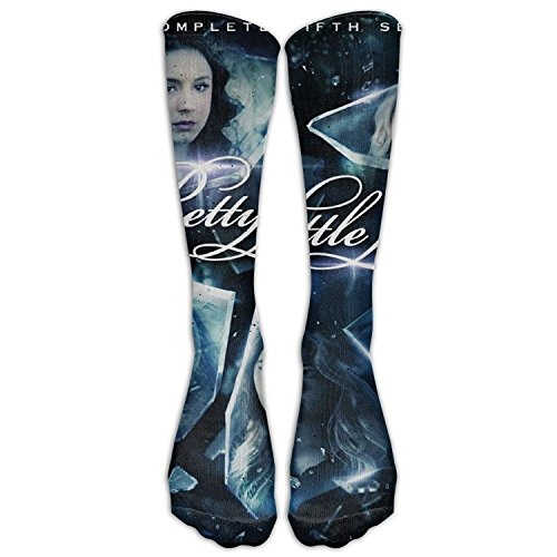 SADDFAWW Pretty Little Liars The Complete Fifth Season Poster Women Tube Knee Thigh High Stockings Cosplay -