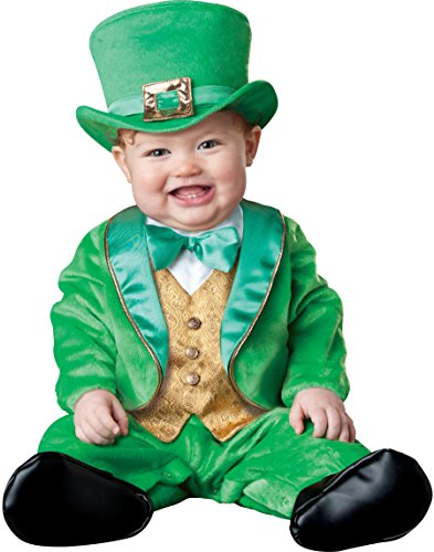 Leprechaun Costumes For Toddlers (InCharacter Costumes Baby's Lil' Leprechaun Costume, Green/Gold/White, Small (6 Months-12 Months))