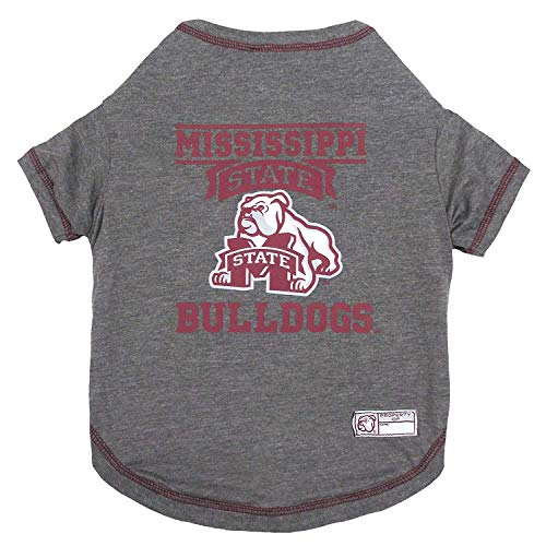 NCAA Mississippi State Bulldogs Dog T-Shirt, Large