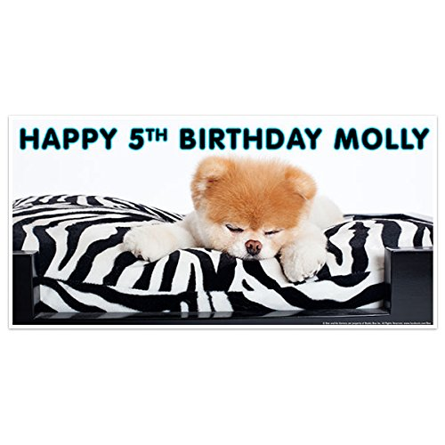 Dog Personalized Birthday Banner (Boo the World's Cutest Dog Birthday Banner Decoration)