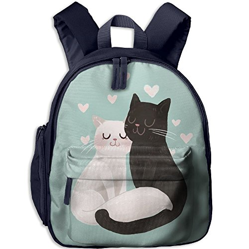 Children's School Bags Black And White Cats Love Each Other Lightweight Backpacks Book Bag (Octonauts Symbol)
