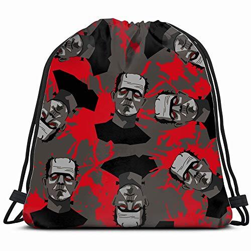 Decorative Horror Frankenstein Blood Drawstring Backpack Gym Sack Lightweight Bag Water Resistant Gym Backpack For Women&Men For Sports,Travelling,Hiking,Camping,Shopping Yoga]()