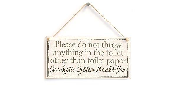 Amazon.com: Por favor, no tire nada en el inodoro que no sea ...