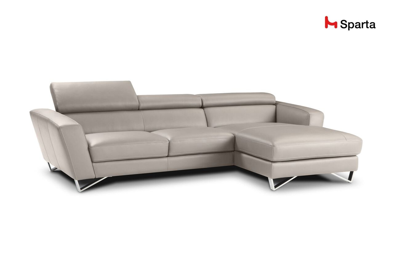 Amazon.com: Sparta Fabric Sectional Sofa By Nicoletti (Beige ...
