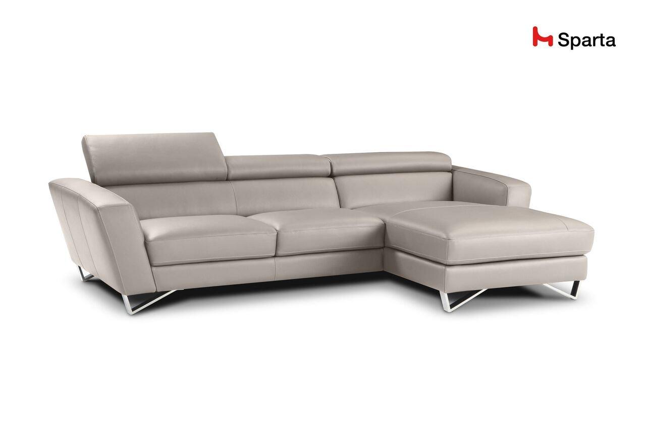 Amazon.com: Sparta Fabric Sectional Sofa By Nicoletti (Beige ...